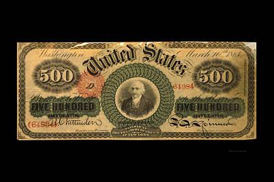 500 Dollar Us Currency New York Bill Art Print by Thomas Woolworth