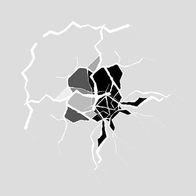 White Background Digital Art - 5040.16.25 by Gareth Lewis