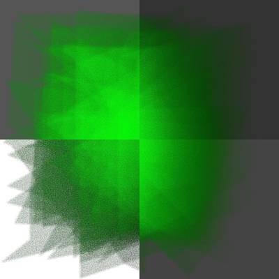 Green Digital Art - 5040.23.11 by Gareth Lewis
