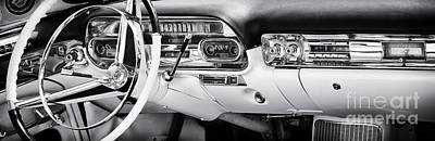 50s Photograph - 50s Cadillac Dashboard by Tim Gainey