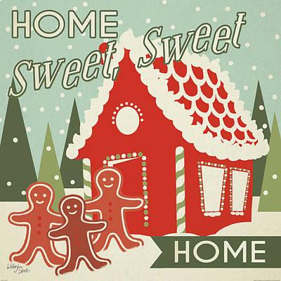 Home Sweet Home Painting - 50s Christmas IIi by Wellington Studio
