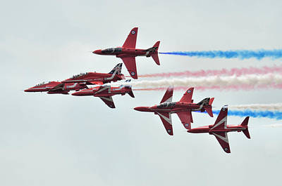 Photograph - 50th Anniversary 'red Arrows' by Tim Beach