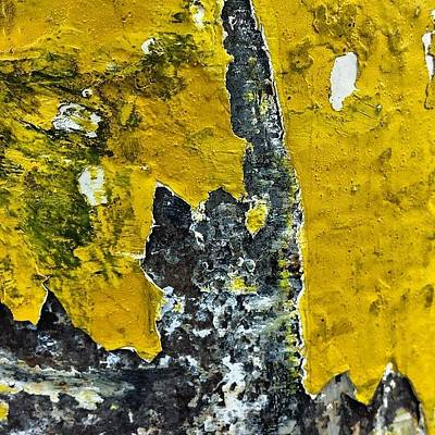 Abstract Wall Art - Photograph - Yellow Post 2 by Jason Michael Roust