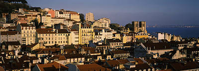 Alfama Photograph - High Angle View Of Buildings In A City by Panoramic Images
