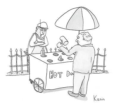 Hot Dogs Drawing - New Yorker March 5th, 2007 by Zachary Kanin