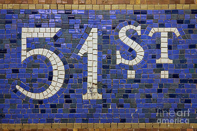 Nyc Subway Mosaic Photograph - 51st Street Station Sign New York by Jannis Werner