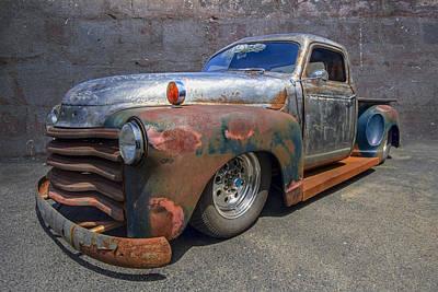 Antique Trucks Photograph - 52 Chevy Truck by Debra and Dave Vanderlaan