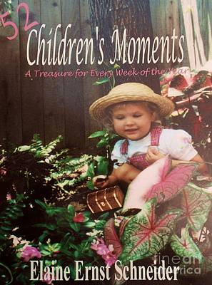 Little Girl Photograph - 52 Children's Moments - Book Cover by Eloise Schneider