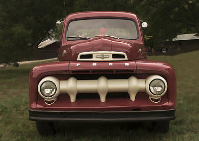 Photograph - '52 Ford Pickup by Wayne Meyer