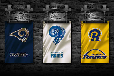 St Louis Rams Art Print