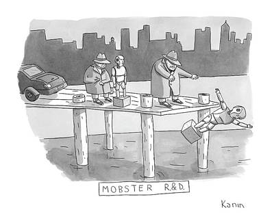 Dock Drawing - New Yorker August 11th, 2008 by Zachary Kanin