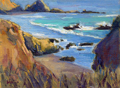 Painting - Coastal Cruising 3 / San Simeon by Konnie Kim