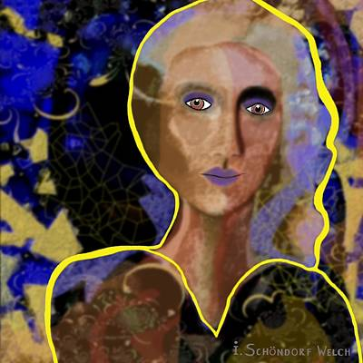 Inuu Digital Art - 522 - Woman by Irmgard Schoendorf Welch