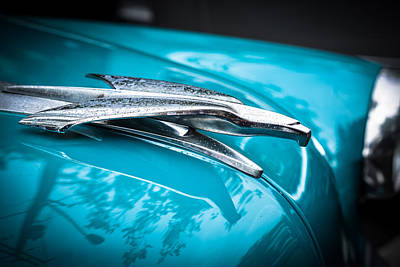 Photograph - '53 Ford Bel Air Hood Ornament 2 by Ronda Broatch