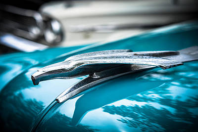 Photograph - '53 Ford Bel Air Hood Ornament by Ronda Broatch