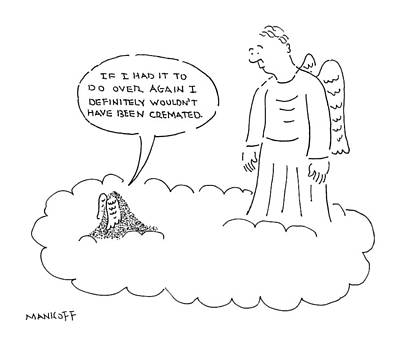 Angels Drawing - New Yorker April 21st, 2008 by Robert Mankoff