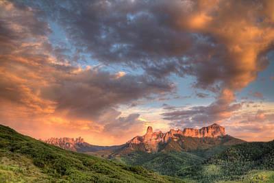 Courthouse Rock Photograph - Usa, Colorado, San Juan Mountains by Jaynes Gallery