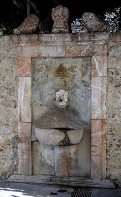 Open Impressionism California Desert Royalty Free Images - An Old Unused Fountain In Taormina Sicily Royalty-Free Image by Rick Rosenshein
