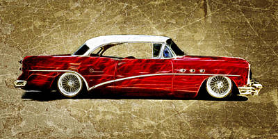 54 Buick Special Art Print by Steve McKinzie
