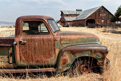 '54 Chevy Put Out To Pasture Art Print by Kathleen Bishop