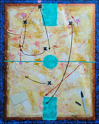 Basketball Abstract Painting - 54 'd' by John Sheppard