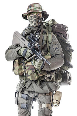 Photograph - Jagdkommando Soldier Of The Austrian by Oleg Zabielin