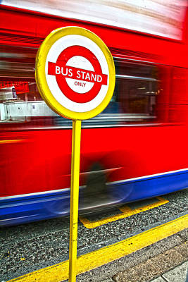 Busstop Photograph - London by Jean Schweitzer