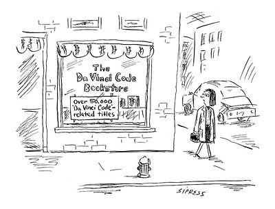 Book Title Drawing - New Yorker March 21st, 2005 by David Sipress