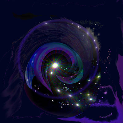 Painting - 541 - Black Hole  by Irmgard Schoendorf Welch