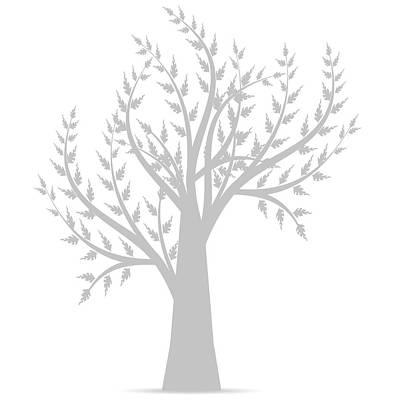 Keith Richards - Art Tree Silhouette  by Sasas Photography