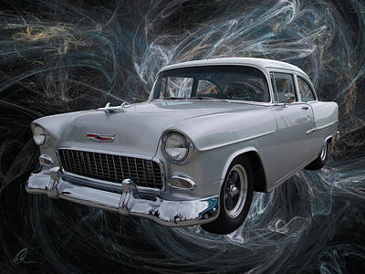 Digital Art - 55 Chevy by Chris Thomas