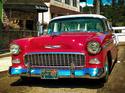 Photograph - 55 Chevy Coupe Bel Air by Thom Zehrfeld