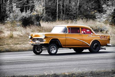 Mooneye Photograph - 55 Chevy Gasser Racing by Steve McKinzie