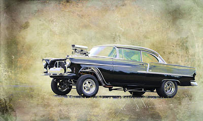 Photograph - 55 Chevy Gasser by Steve McKinzie