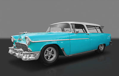 Photograph - 1955 Chevy Nomad by Frank J Benz