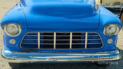 Photograph - 55 Chevy Pickup Hood And Grill by Mark Dodd