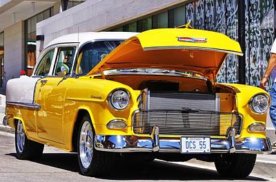 Photograph - 55' Chevy Shines by Al Fritz