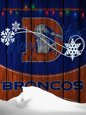 Denver Broncos Art Print by Joe Hamilton