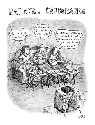 Television Drawing - Rational Exuberance by Roz Chast