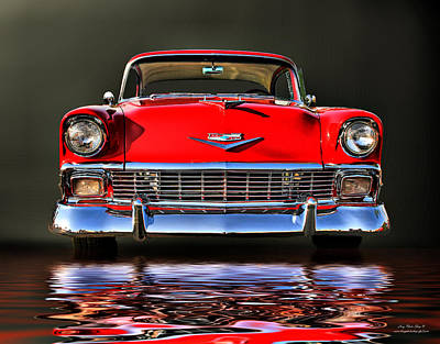 Lenz Wall Art - Photograph - 56 Chevy by George Lenz