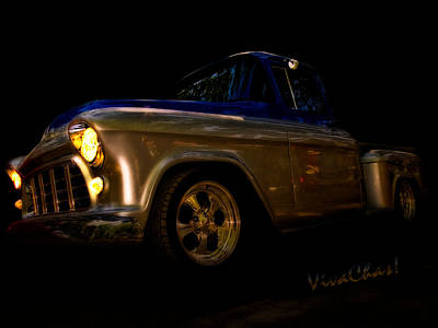 56 Chevy Pickup An Its A Baad One Art Print