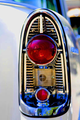 56 Chevy Tail Art Print by Terry Thomas