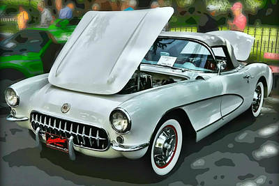 Art Print featuring the photograph '56 Corvette by Victor Montgomery