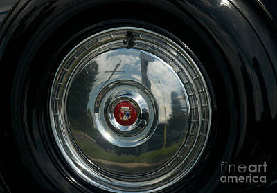 Photograph - 56 Ford Thunderbird Spare Hub Cap by Mark Dodd