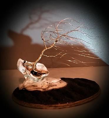 #56 Sea Breeze Windswept Wire Tree Sculpture Original
