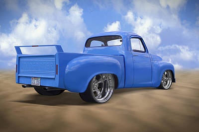 56 Studebaker Truck Art Print by Mike McGlothlen