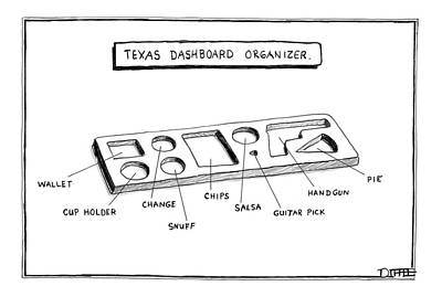 Texas Drawing - New Yorker November 13th, 2006 by Matthew Diffee