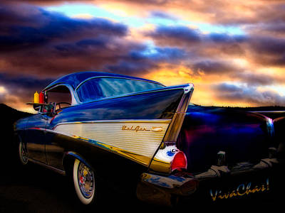 Cha-am Photograph - 57 Belair Hardtop Cruise Is Done by Chas Sinklier