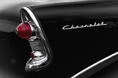 57 Black Chevrolet Art Print by John  Bartosik