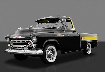 1957 Chevrolet Cameo Pickup  Art Print by Frank J Benz